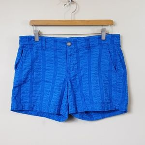 Old Navy Blue Embroidered Shorts